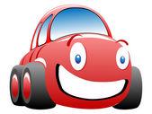 Funny race car vector illustration — Stock Vector