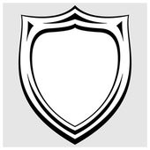 Vector black and white heraldic badge — Stock Vector