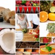 Gourmet food collage - Stock fotografie