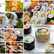 collage de sushis japonais — Photo
