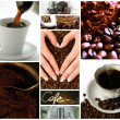Coffee themed collage - Stock Photo