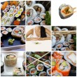 Stock Photo: Japanese sushi collage