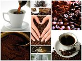 Coffee themed collage — Stock Photo