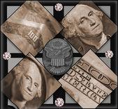 Money Collage — Stock Photo