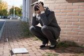 Unavený podnikatelka — Stock fotografie