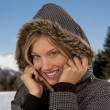 Stock Photo: Baeautiful winter woman