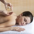 Back Massage with Oil — Stock Photo