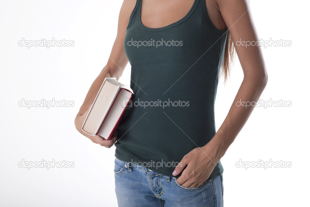 Beautiful student with a books  Stock Photo #4049771