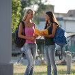Happy students — Stockfoto
