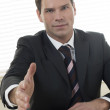 Businessman ready to shake hands — Stock Photo
