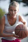 Determined basketball player — Stock Photo