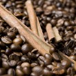 Royalty-Free Stock Photo: Coffee beans with cinnamon