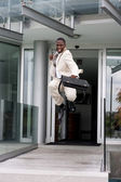 Businessman jumping of happiness — ストック写真