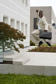 Businessman jumping of happiness — Stock fotografie