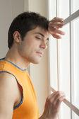 Pensive sportsman — Stock Photo