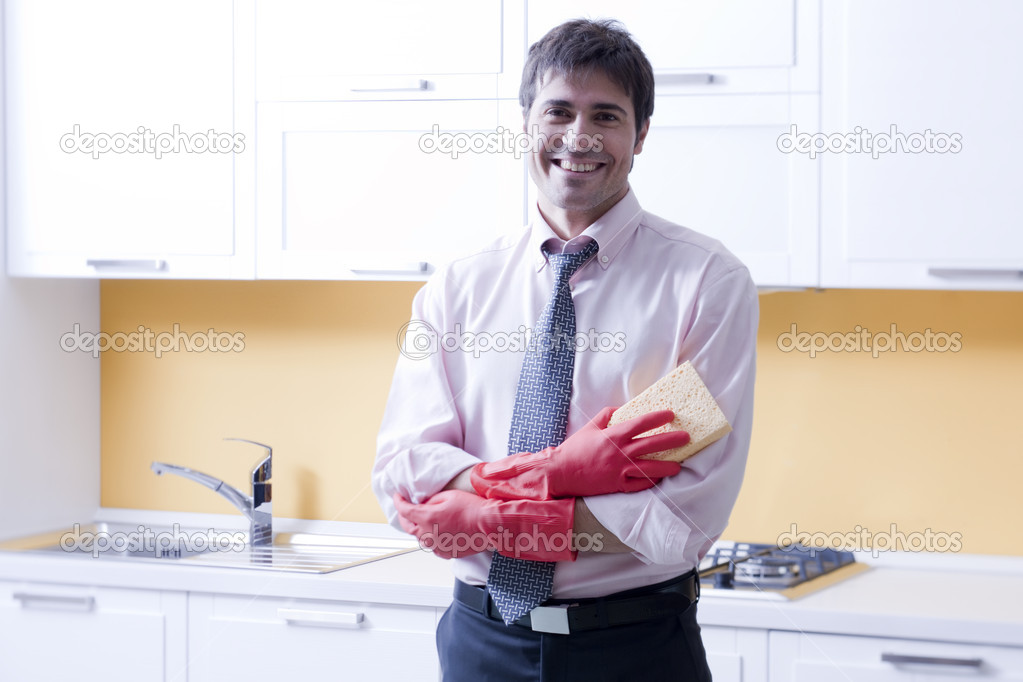 Businessman working at home — Stock Photo #4129782
