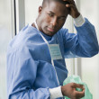 Worried male surgeon — Stock Photo #4157189