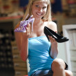 Teenage girl buying elegant shoes - Stock Photo