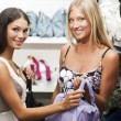 Young women doing shopping — Stok fotoğraf