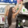 Young women doing shopping — Stock Photo #4167691