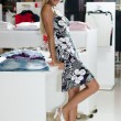 Beautiful shopping girl - Lizenzfreies Foto