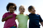 Portrait of three children — Stock Photo