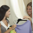 Trying dress on — Stock Photo #4170015