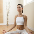 Woman in lotus position — Stock Photo