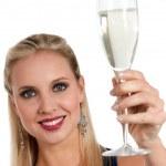 Celebrating new Years'Eve or Birthday — Stock Photo #4193447