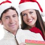 Christmas Couple — Stock Photo #4208398