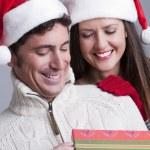 Christmas Couple — Stock Photo #4208423
