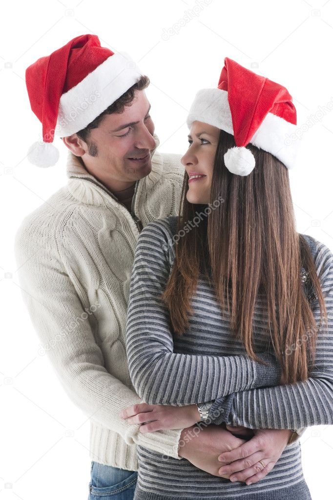 Happy couple at Christmas — Stock Photo #4208240
