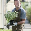 Smiling gardener — Stock Photo