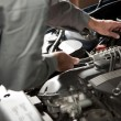 Stock Photo: Repairing car