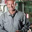 Smiling Mechanic - Foto Stock