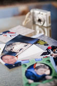 Photographs on the table — Stock Photo