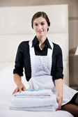 Portrait Of A Hotel Maid — Stock Photo