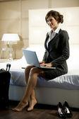 Traveling Businesswoman — Stock Photo