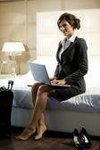 Traveling Businesswoman — Stock Photo