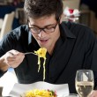 Man At The Restaurant — Stock Photo