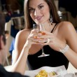 Elegant Couple at The Restaurant — Stock Photo #4396984