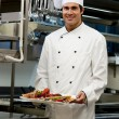 Male Chef in The Restaurant - Stock Photo
