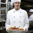 Male Chef in The Restaurant — Stock Photo #4397385