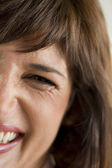 Spontaneous Woman Smile — Stock Photo