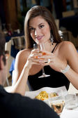 Elegant Couple at The Restaurant — Stock Photo
