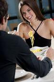 Elegant Couple at The Restaurant — Stock Photo