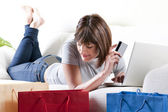 Online-Shopping — Stockfoto