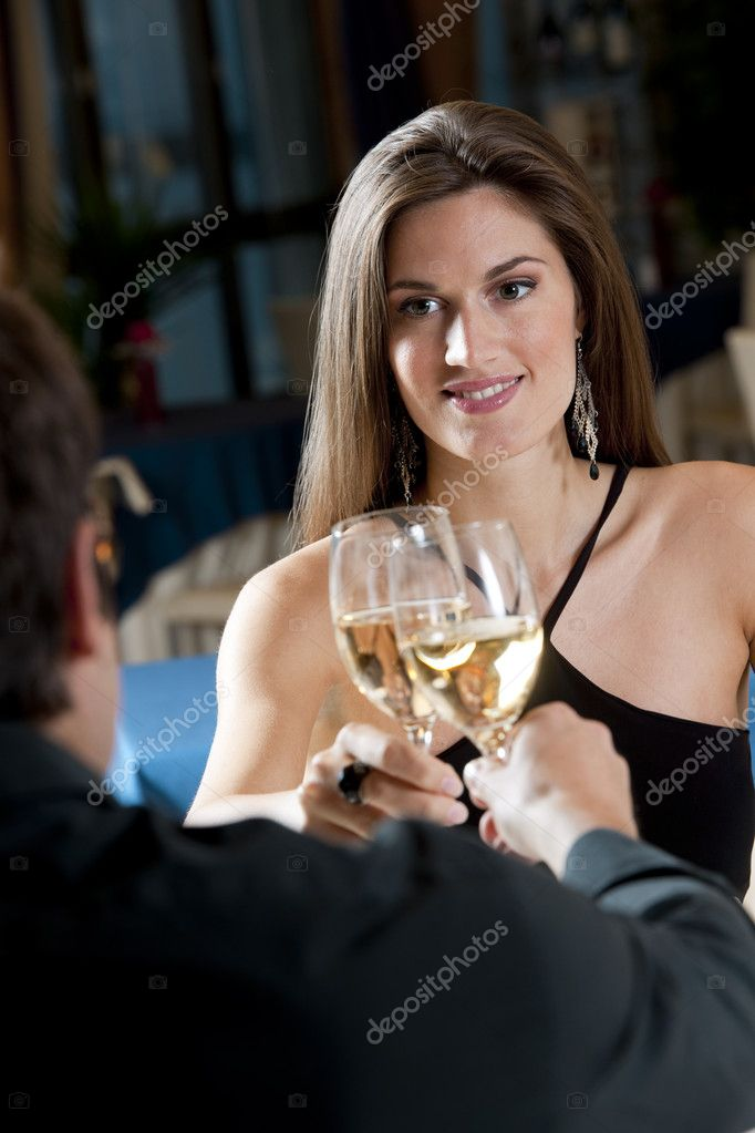 Elegant Couple at The Restaurant — Stock Photo #4396938