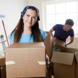 Moving Coupke — Stock Photo