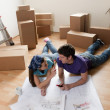 Stock Photo: Moving Day, Projecting New Home